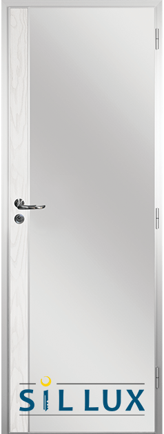 Алуминиева врата за баня Sil Lux, цвят Снежен бор Лайсна